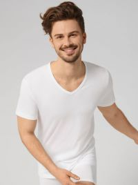 Sloggi men EverNew Shirt V Neck, bianco