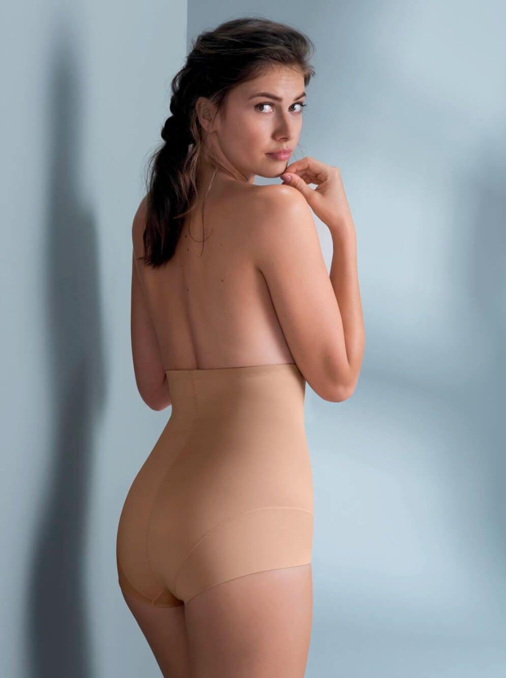 RosaFaia Sylvie Women`s Shapewear High-Waist Brief XL Skin