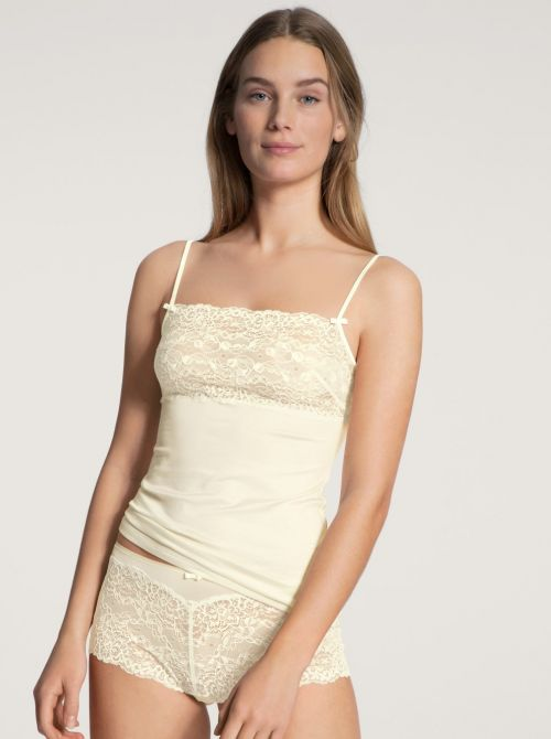 11531 Sweet Secrets top con pizzo, alabaster creme CALIDA