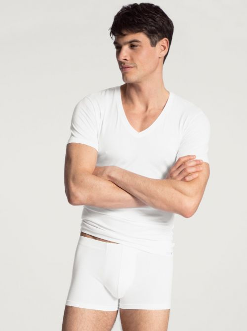 14317 Evolution T-Shirt cotone ultra fine, bianco CALIDA