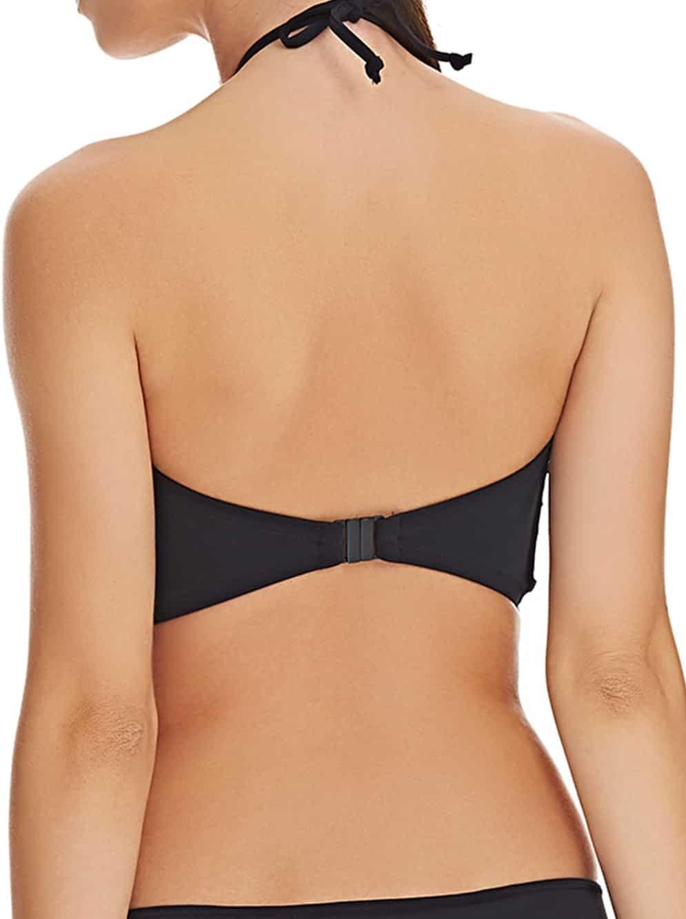 4256369451d5a Freya, AS3944 Remix, Underwire Padded Bandeau Bikini Top, black