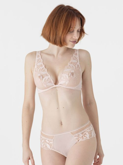 Sin triangle bra with underwire, peach MAISONLEJABY
