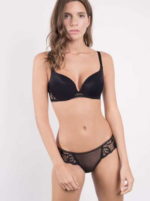 Sin Push-up bra, black MAISONLEJABY