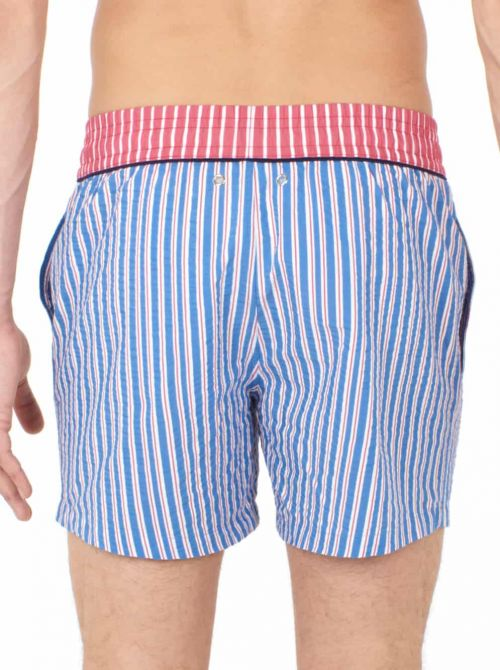 Beach boxer uomo Preppy, red blue HOM