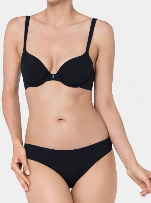 Body Make Up Cotton  Touch WhP Reggiseno imbottito con ferretto, nero TRIUMPH