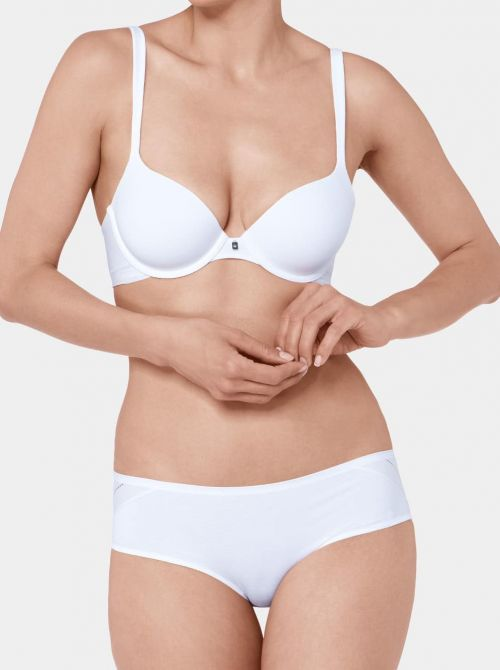 Body Make Up Cotton Touch W Reggiseno con ferretto, bianco TRIUMPH