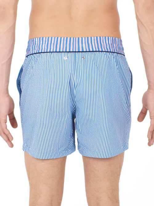 Beach boxer uomo Preppy, white blue HOM