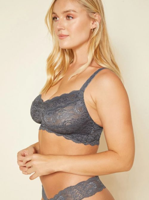 Never say never - Curvy Sweetie bralette, antracite COSABELLA