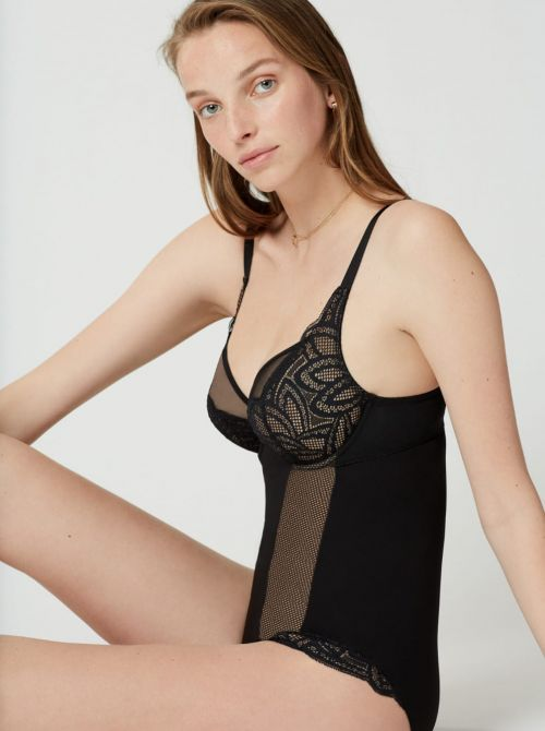 Grace Body con ferretto, nero MAISONLEJABY