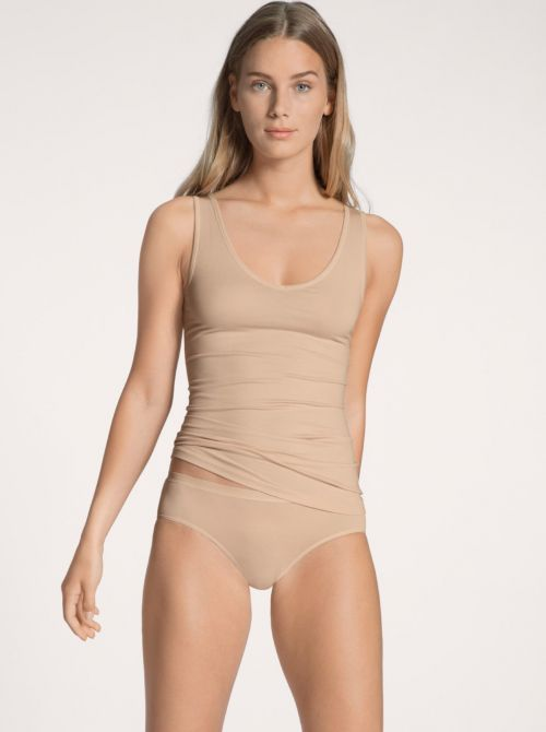 Natural Comfort Tank-Top spalline larghe, nudo CALIDA