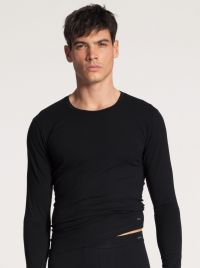 15890 Cotton Code shirt a manica lunga, nero