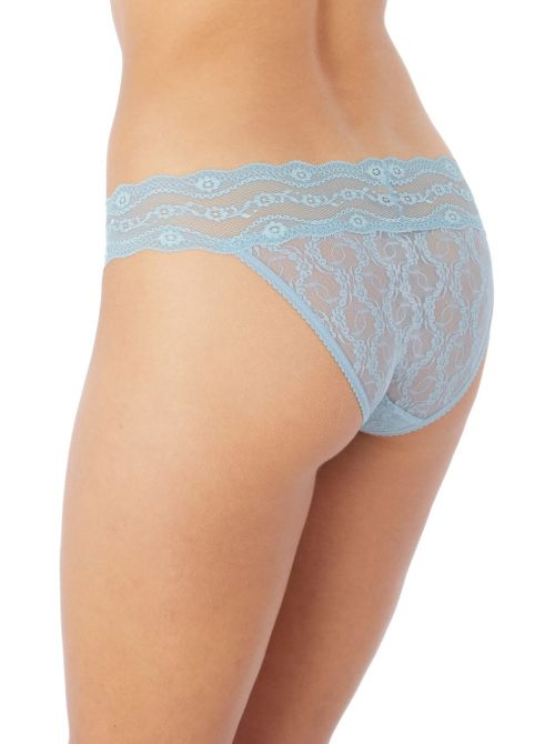 Lace Kiss Night slip, light blue b.tempt'd